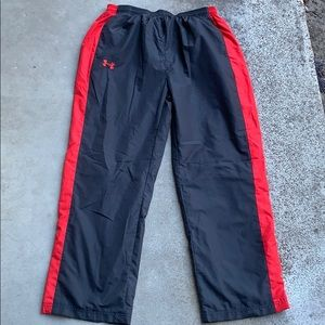 Under Armour Black And Red Track Pants